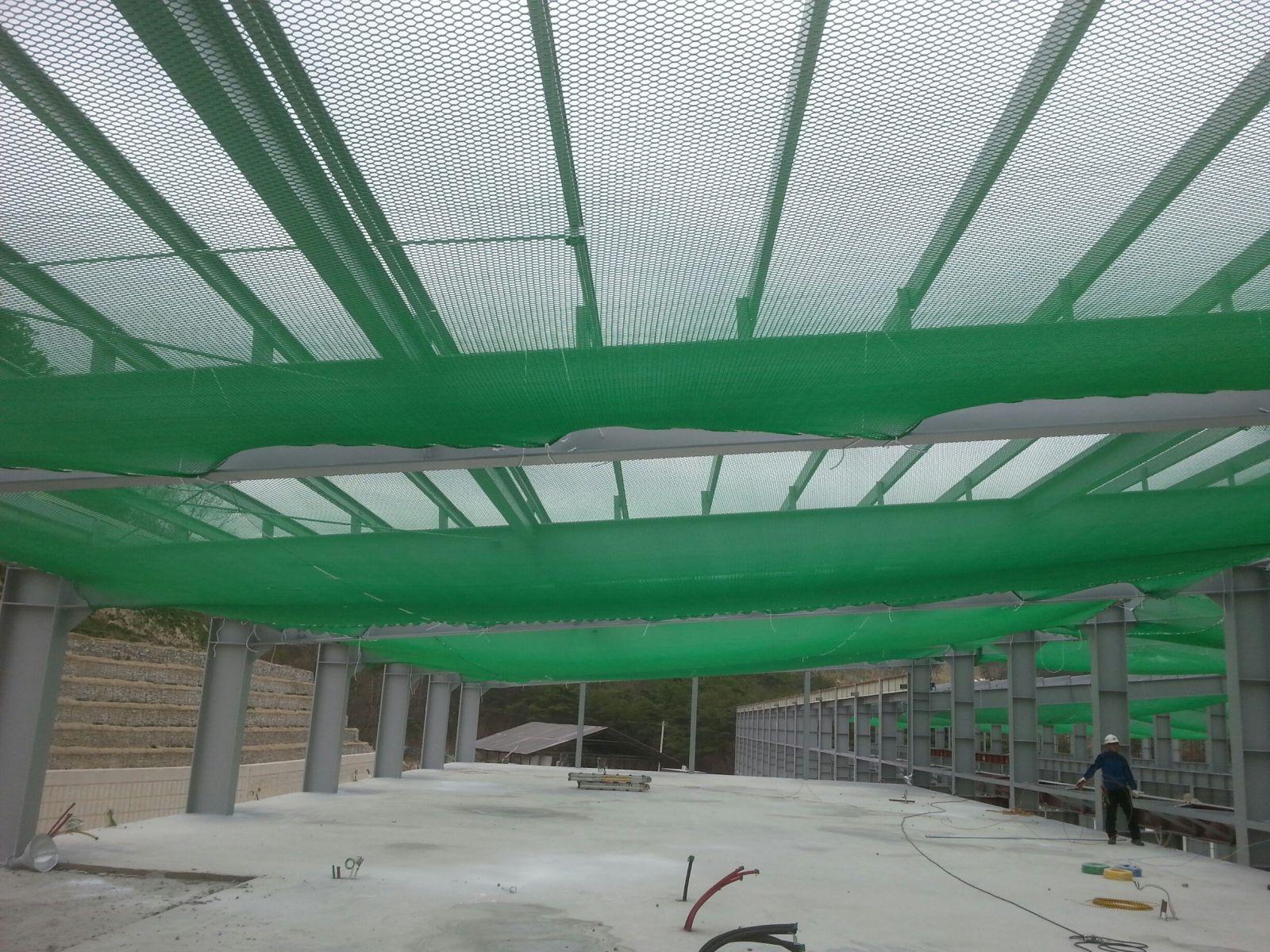 Lưới an toàn dù xanh chống vật rơi Hàn Quốc - HANKO - KOREA